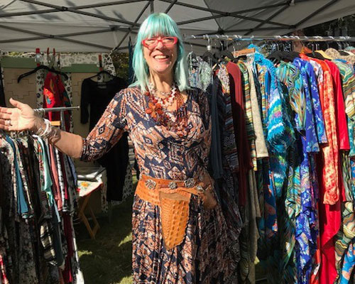 Unique clothing made by local artisans available at the Claremont artisans Market